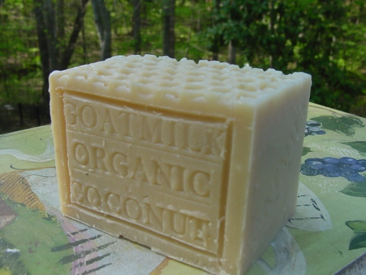 This soap is made with goats milk and coconut milk , both are a natural, soothing skin cleanser and moisturizer. We add oatmeal which calms irritated skin and honey which adds moisturizes to the skin.