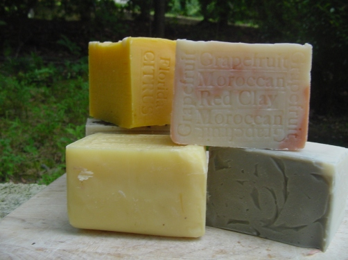 4 Decorative Soaps Peppermint , Lemongrass, Citrus Orange , Grapefruit