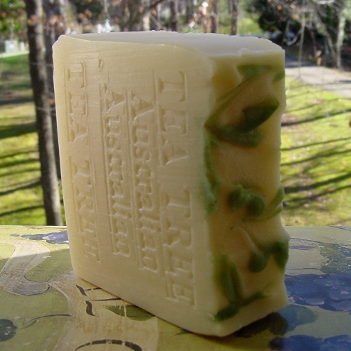 Australian Tea Tree Soap; the all purpose antibacterial hand or bath soap. Contains natural Tea Tree Oil. Suitable for vegans.