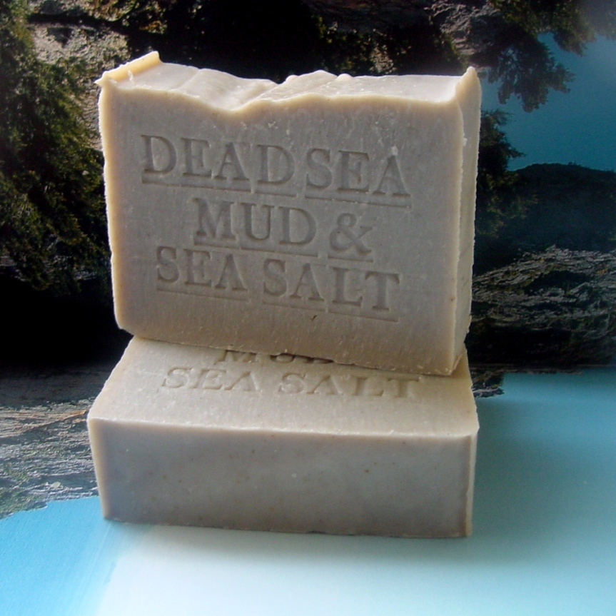 Handmade All Natural Dead Sea Mud Soap With Dead Sea Salt (Unscented)