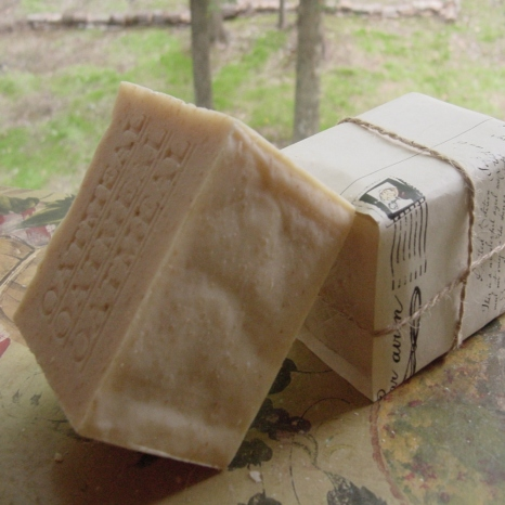 Healthy oatmeal soap.