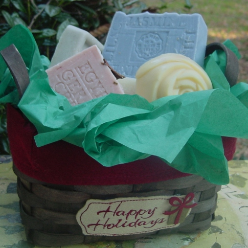 Healthy Gift Baskets for Holidays--Five Piece Soap Gift
