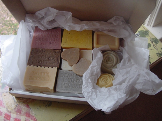 Gift Box with Handmade Soaps for Women