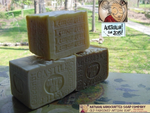 3 soaps Greek olive oil , Castile , sea kelp