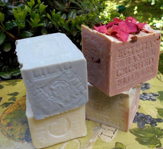 Geranium Soap , Jasmine Soap , Castile Olive Soap .. Goat's milk Soap Aged Soaps