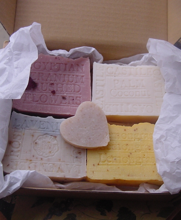 Four Bar Gift Set Soap and a Heart