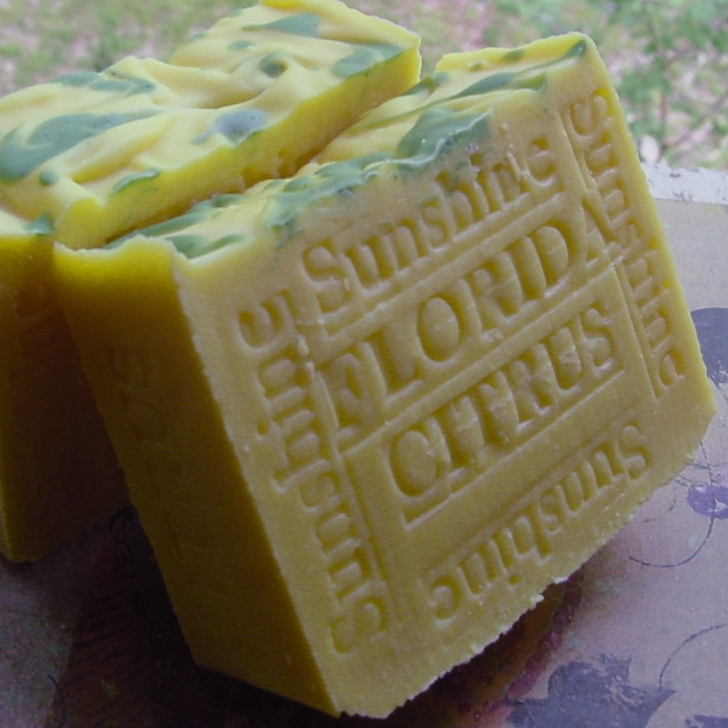 Florida Citrus Soap , feels like your bathing on the shores of South beach with a extra creamy bar of soap. Close your eyes and feel like your walking through a tangerine groove