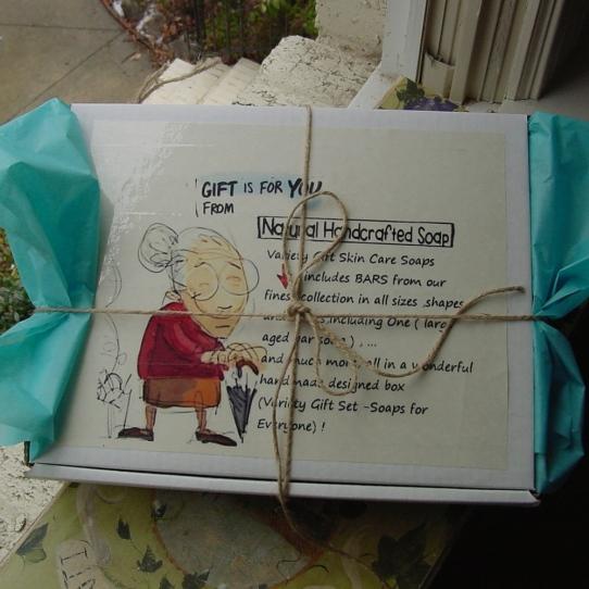 Handmade soap gift box