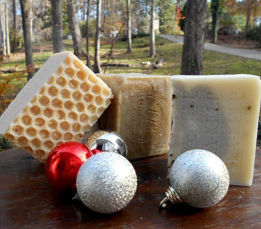 Happy Holidays Gift Handmade soaps