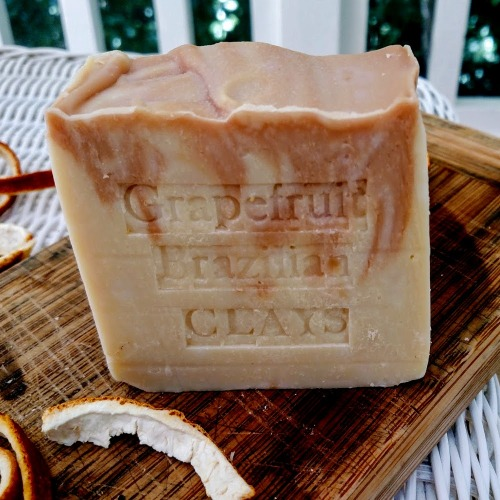 South Africa Grapefruit Artisan Soap with Moroccan and Brazilian Red Clay