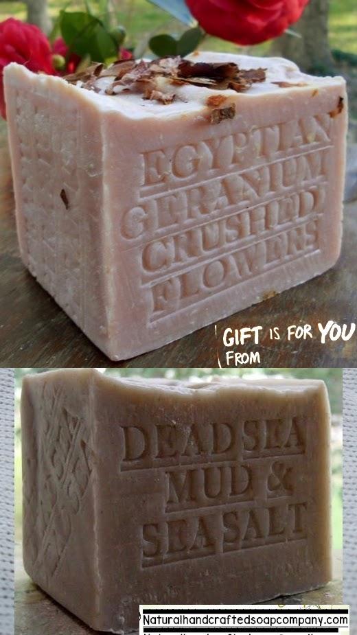 Handmade soap Geranium soap Dead Sea Mud Israel handmade soap