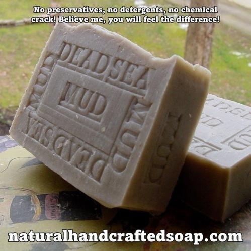 Dead Sea Mud Soap Bar 100% Organic & Natural.