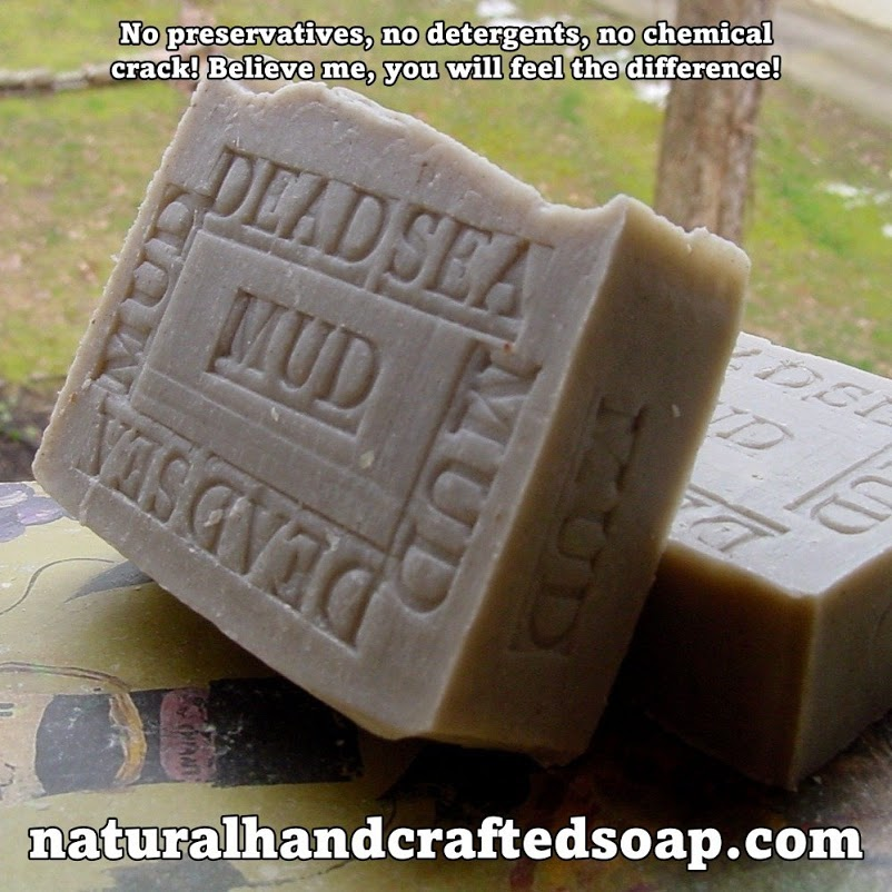 Dead Sea Mud Soap Bar 100% Organic & Natural.
