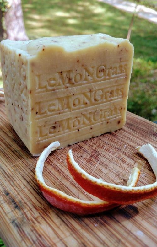 NATURAL - Lemongrass soap .