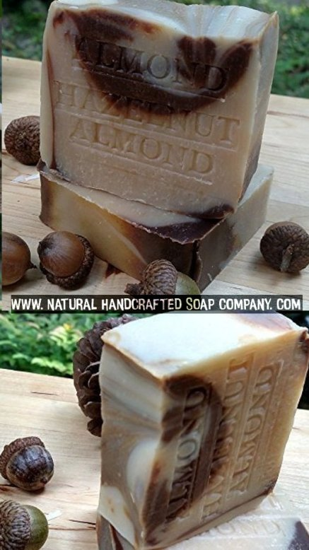 Almond Hazelnut Soap Natural Handmade Aged Bar with Cocoa Almond and Acai Berry Butter