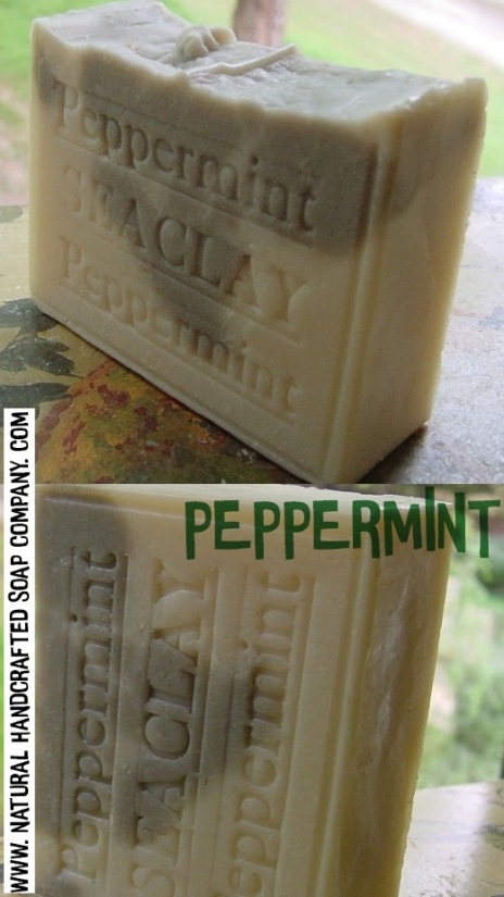 A bar of anti-fungal peppermint you'll know this stuff is better for your skin, no ~lye~.