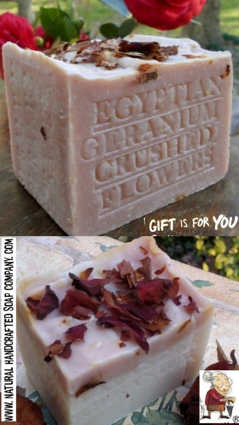 Google Floral soap scent lavender Geranium Natural Soaps