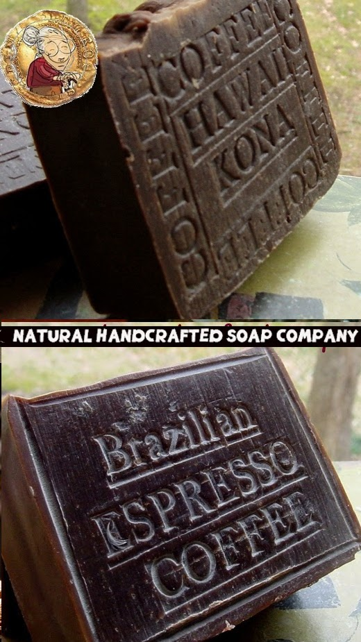 October Soaps -Coffee Soap -Kona Coffee and Brazilian Espresso