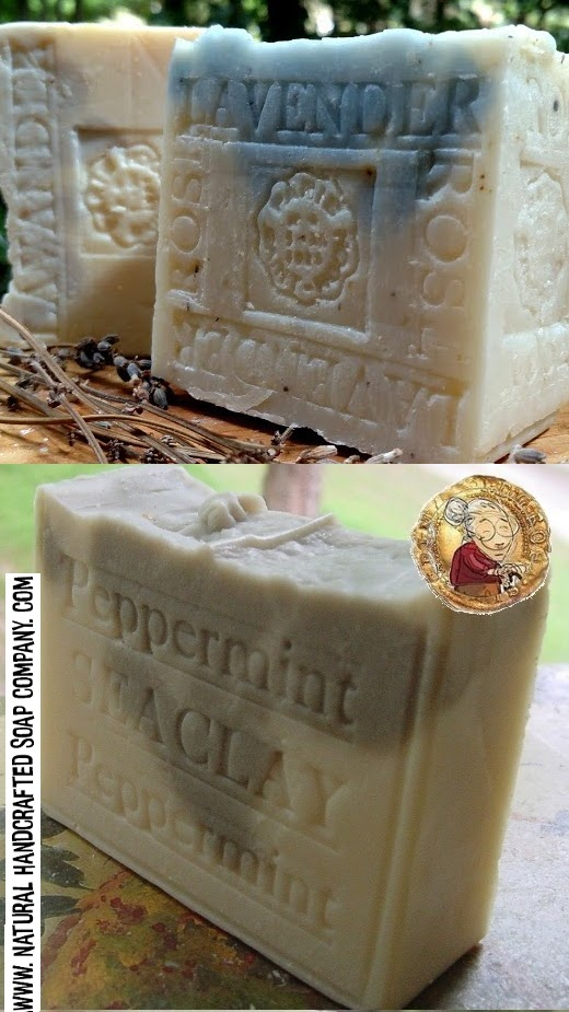 peppermint soap lavender soap from natural handcrafted soap Holidays gift