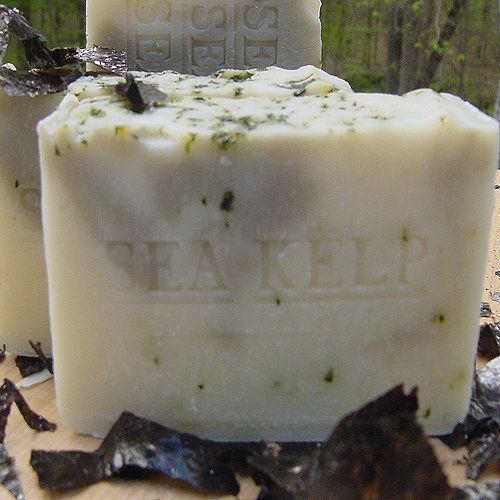 Organic sea kelp handmade soap