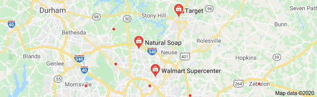 Map of natural soap